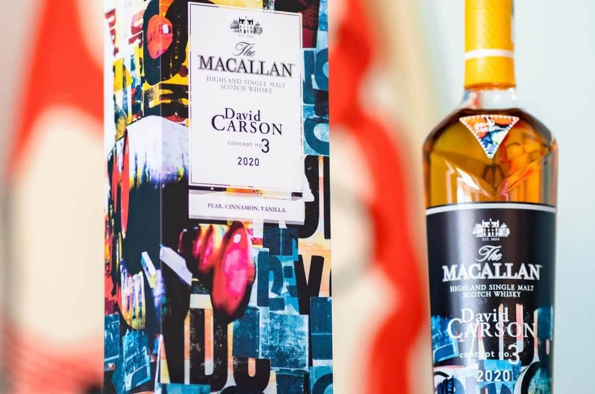 David Carson là người thiết kế ra mẫu hộp đựng và nhãn chai cho Macallan Concept Number 3