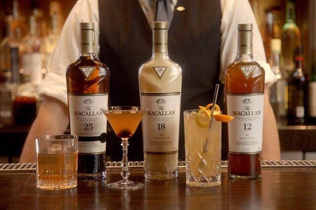 Giá Macallan tùy thuộc vào từng dòng rượu