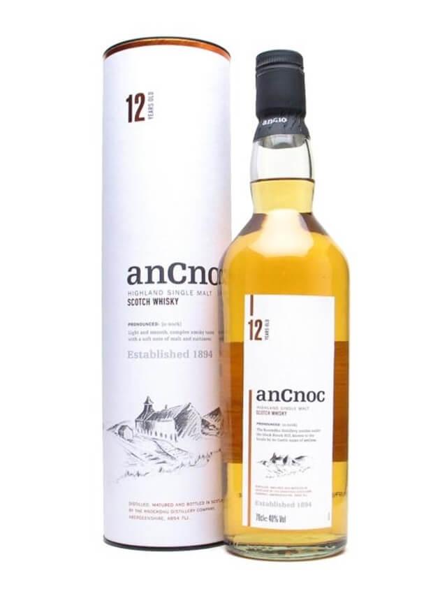 Rượu Ancnoc 12 năm với ngoại hình tinh tế, sang trọng