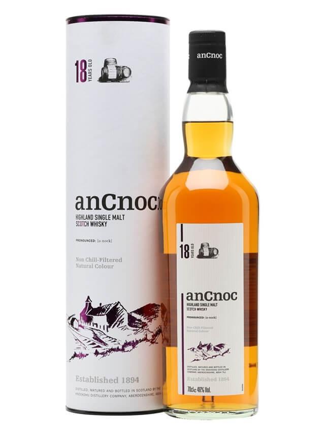 Vẻ ngoại quan của Rượu Ancnoc 18 năm