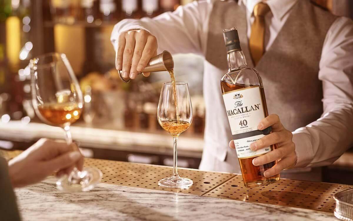 Pha chế rượu Macallan 40