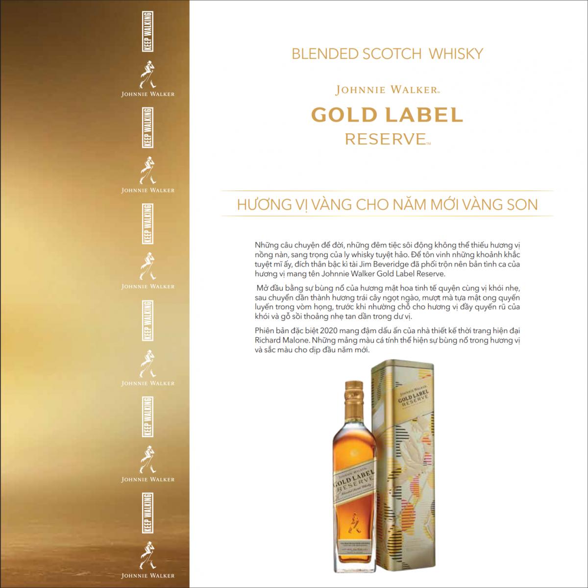 Gioi thieu Johnnie Walker Gold Label phien ban Tet 2020