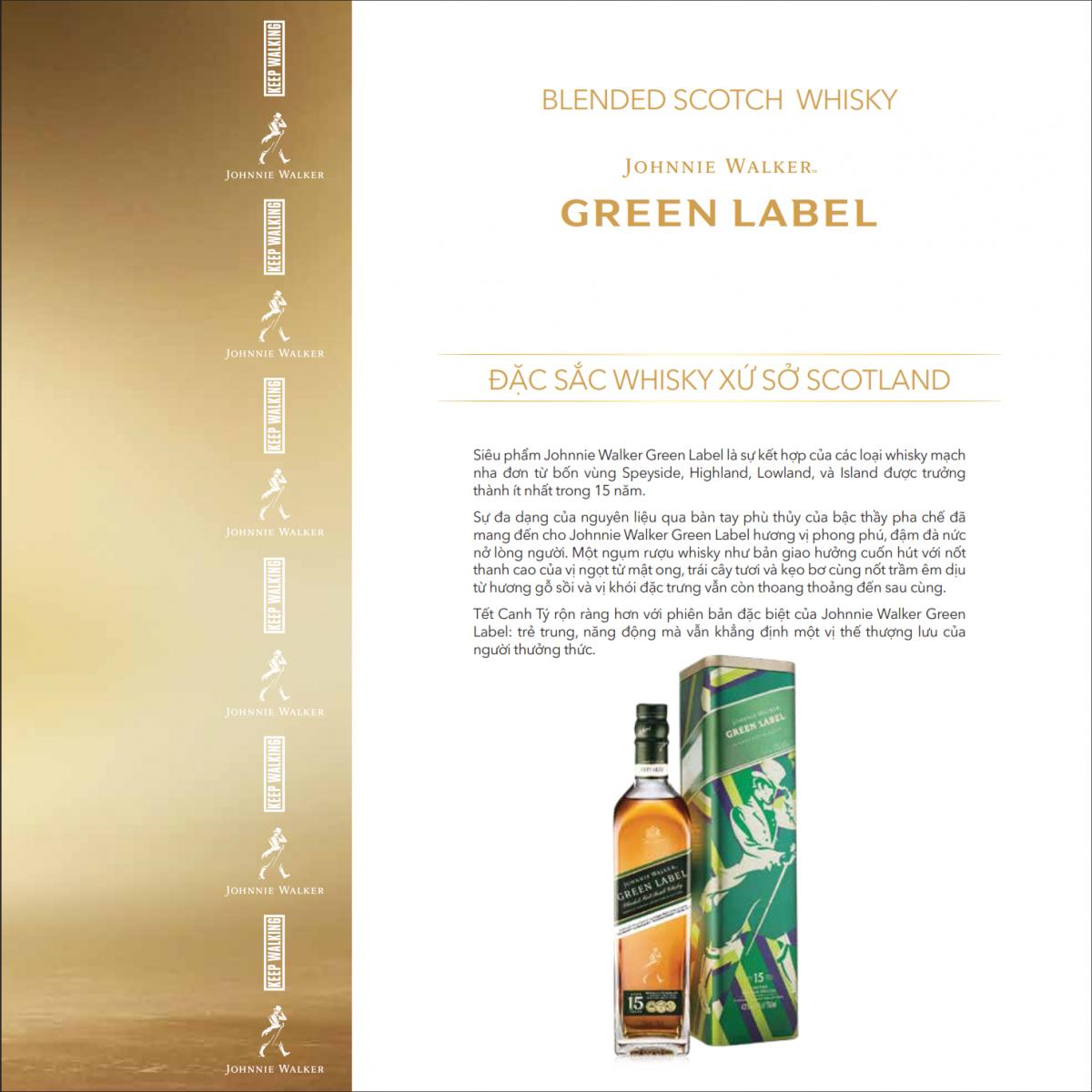 Johnnie Walker Green Label hộp thiết Tết 2020