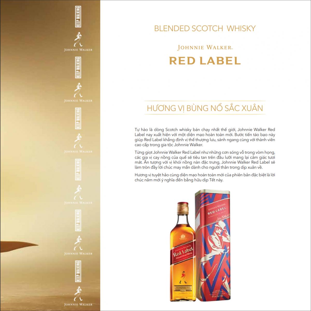 Gioi thieu Johnnie Walker Red Label phien ban Tet 2020