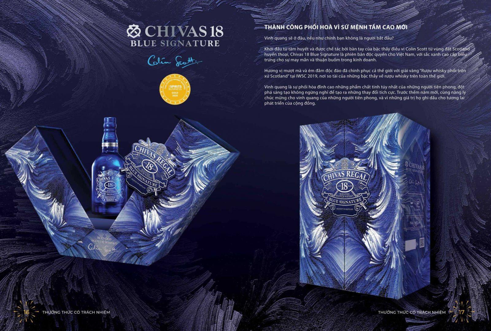 RƯỢU CHIVAS 18 BLUE NĂM HỘP QUÀ TẾT 2021