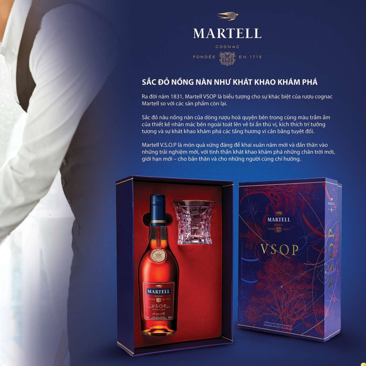 Martell VSOP - Hộp Quà Tết 2020