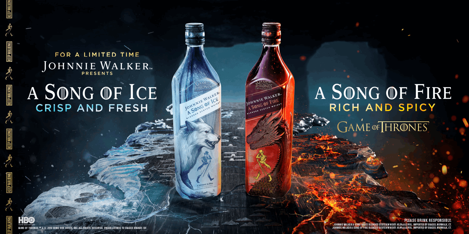 HÌNHẢNH RƯỢU JOHNNIE WALKER GAME OF THRONE A SONG OF ICE AND FIRE