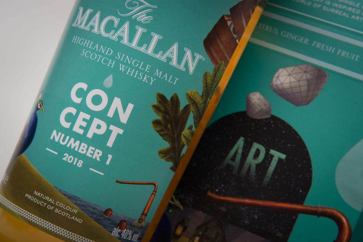 The Macallan Concept no 1 bottle pack shot artwork