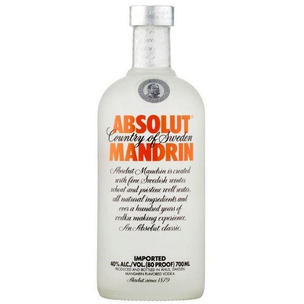 Absolut Vodka Mandrin (Cam) 700 ml