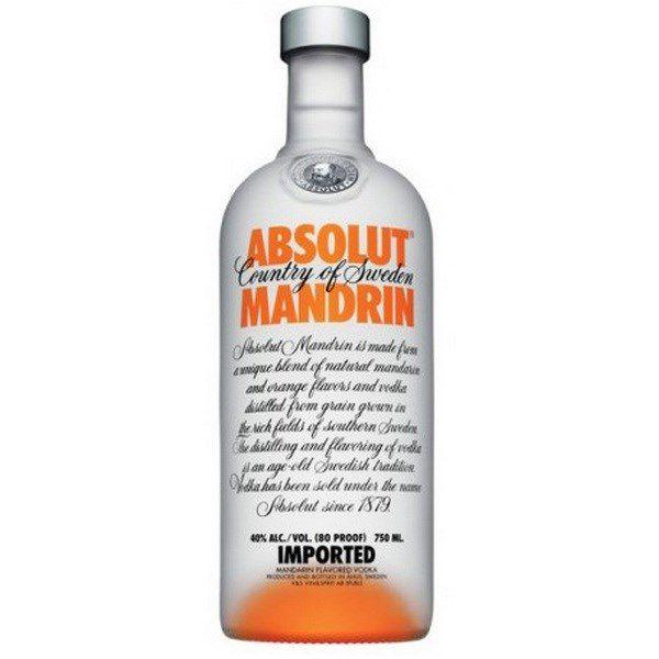 Absolut Mandrin Vodka (Cam) 750 ml