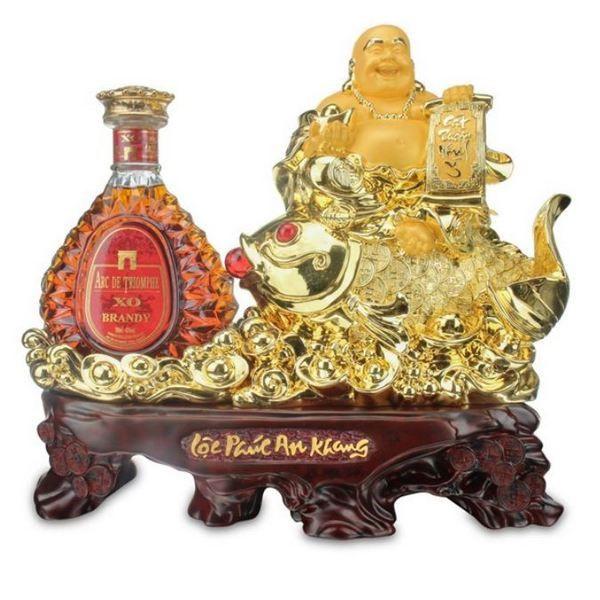 Brandy xo Di lặc vàng + kệ 700 ml