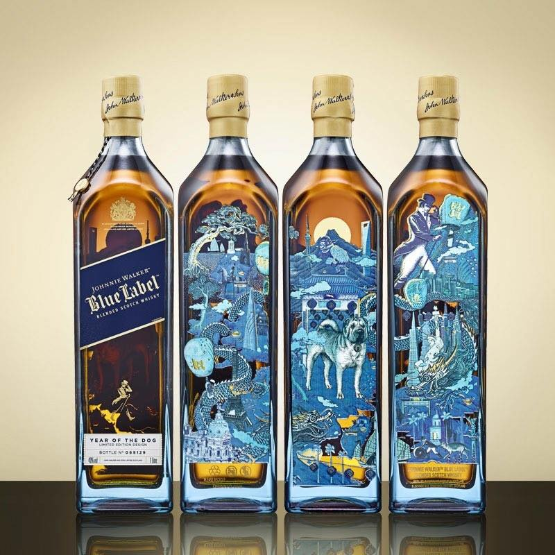 Rượu Johnnie Walker Blue Label Year of Dog 2018