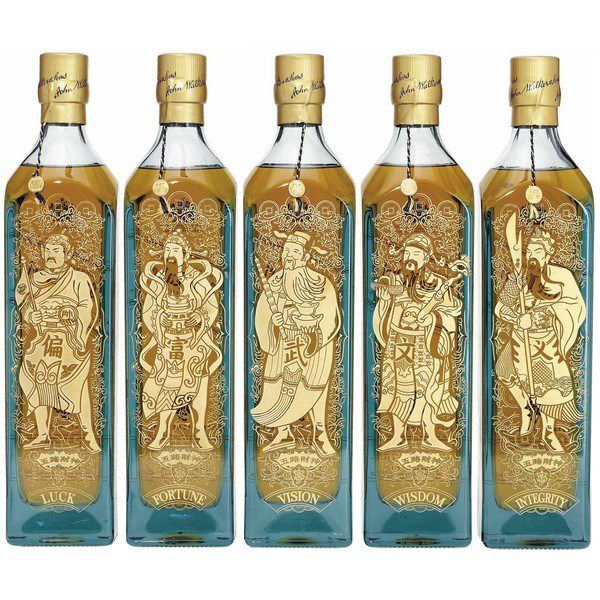 Johnnie Walker Blue Label Five God of Wealth - Ngũ Lộ Thần Tài