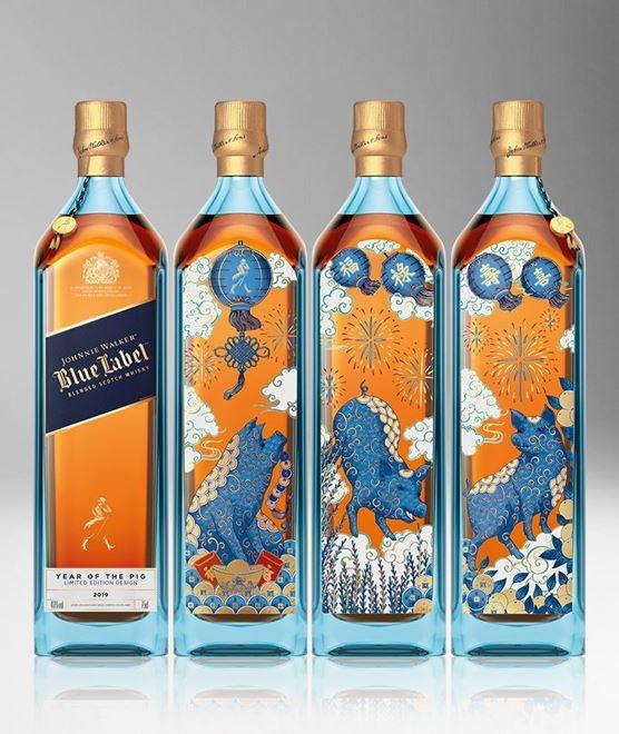 Rượu Johnnie Walker Blue Label Year of Pig Tết Kỷ Hợi 2019
