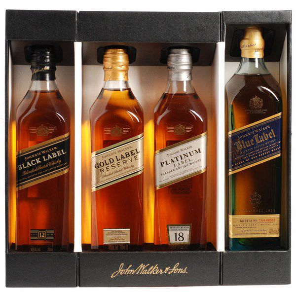 Johnnie Walker Multi collection (Black, Gold, Platinum, Blue)