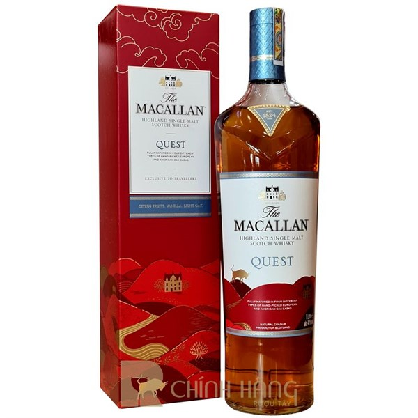 Macallan Quest 1L Hộp Đỏ 2021