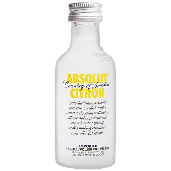 Rượu mini Absolut Citron 50ml (Chanh)