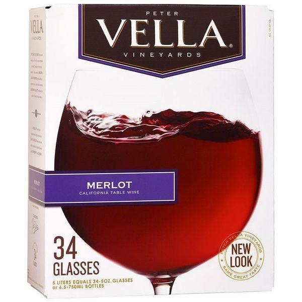 Vang bịch Peter Vella Merlot 5L (Mỹ)