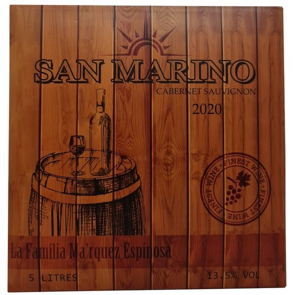 Vang bịch San Marino Cabernet Sauvignon 5L (Chile) 5000 ml